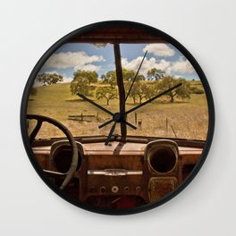 View Of Yesterday Wall Clock