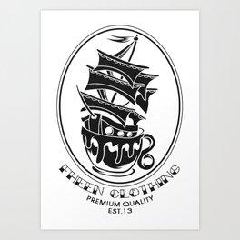 Fheen Ship Tea Cup  Art Print