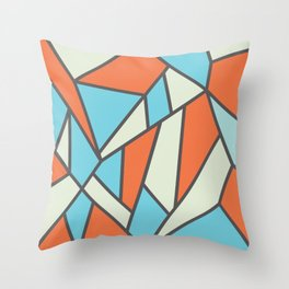 Geometric Colour Pattern V3 Throw Pillow