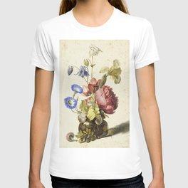 Dirck De Bray - Flowers In A Bottle T-shirt