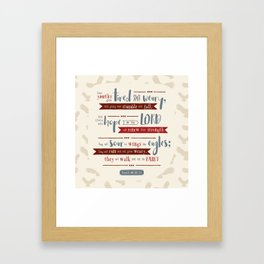 """Hope in the Lord"" Hand-Lettered Bible Verse Framed Art Print"