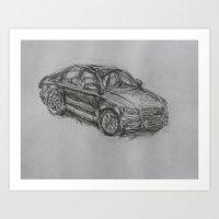 audi Art Prints featuring Audi by Tony Padavich