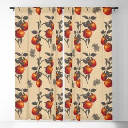 apple orchard watercolor pattern Blackout Curtain