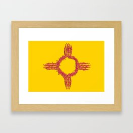 NM Chilis Framed Art Print