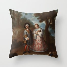 Juan Patricio Morlete Ruiz - IX From Spaniard and Albino, Return Backwards (IX De español y albina, Throw Pillow