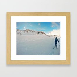 Resting on the Shoulder Framed Art Print