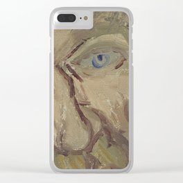 Portrait of a Man Clear iPhone Case