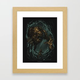 Into The Pit Framed Art Print