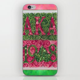 Alpha Kappa Alpha 1908 iPhone Skin