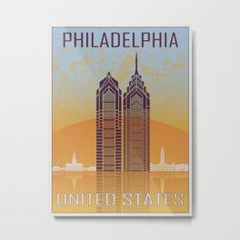 Philadelphia Vintage Poster Metal Print