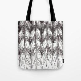 Stockinette Stitch Knitting Tote Bag