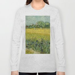 Field with Flowers near Arles by Vincent van Gogh Long Sleeve T-shirt