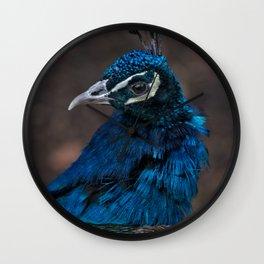 Peacock Portrait Wall Clock