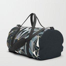Stylish Art Deco Geometric Pattern - Black, blue, Gold #abstract #pattern Duffle Bag