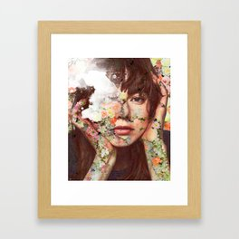 Flowered skin ll Framed Art Print