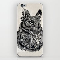 owl iPhone & iPod Skins featuring Owl by Feline Zegers