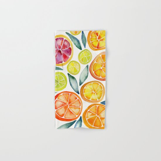 Sliced Citrus Watercolor by catcoq