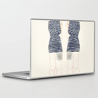 stripes Laptop & iPad Skins featuring Stripes by Elly Liyana