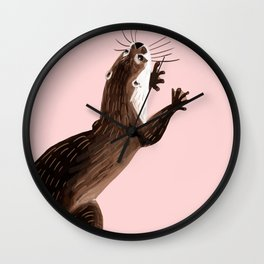 Asian small-clawed otter Wall Clock