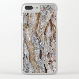 TEXTURES -- Big Cone Pine Bark Clear iPhone Case