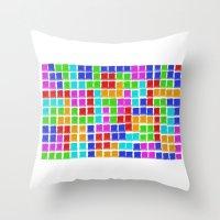 tetris Throw Pillows featuring Tetris by MarioGuti