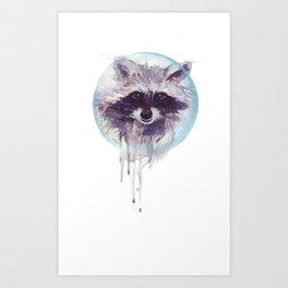 Hello Raccoon! Art Print