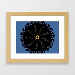 black flower design Framed Art Print