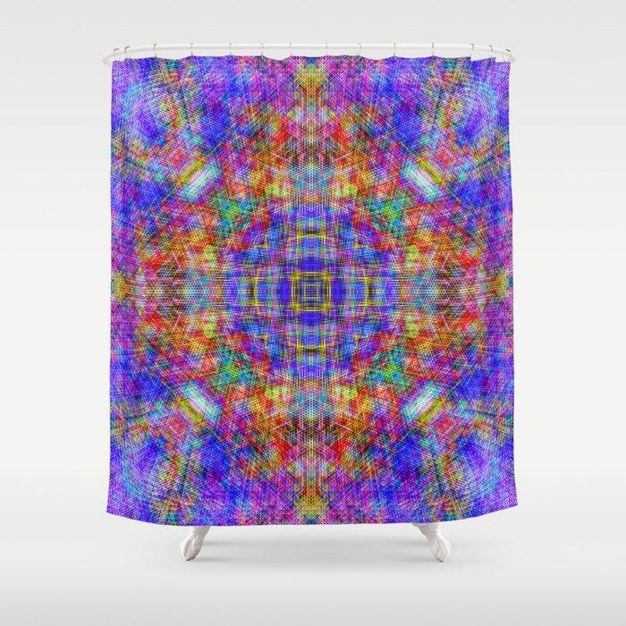 Spectral Threads Shower Curtain