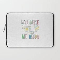 make me happy Laptop Sleeve
