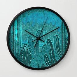 Desert landscape, night vision Wall Clock