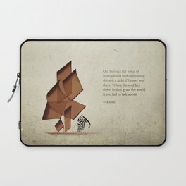 Arabic Calligraphy - Rumi - Beyond Laptop Sleeve