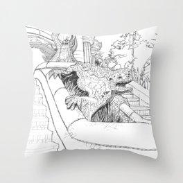 Bcn 7 Throw Pillow
