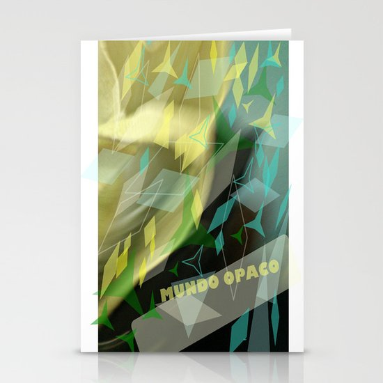 Opaque world: garment in the air. Stationery Cards