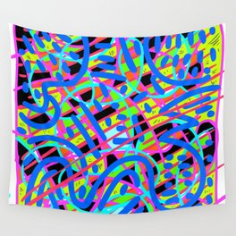 Neon Glow Wall Tapestry