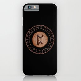 Perthro Elder Futhark Rune of fate and the unmanifest, probability, luck, nothingness, the unborn iPhone Case