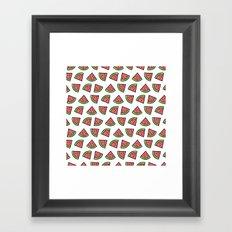Chunks of Watermelon Framed Art Print