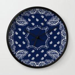 Bandana - Navy Blue - Boho Wall Clock