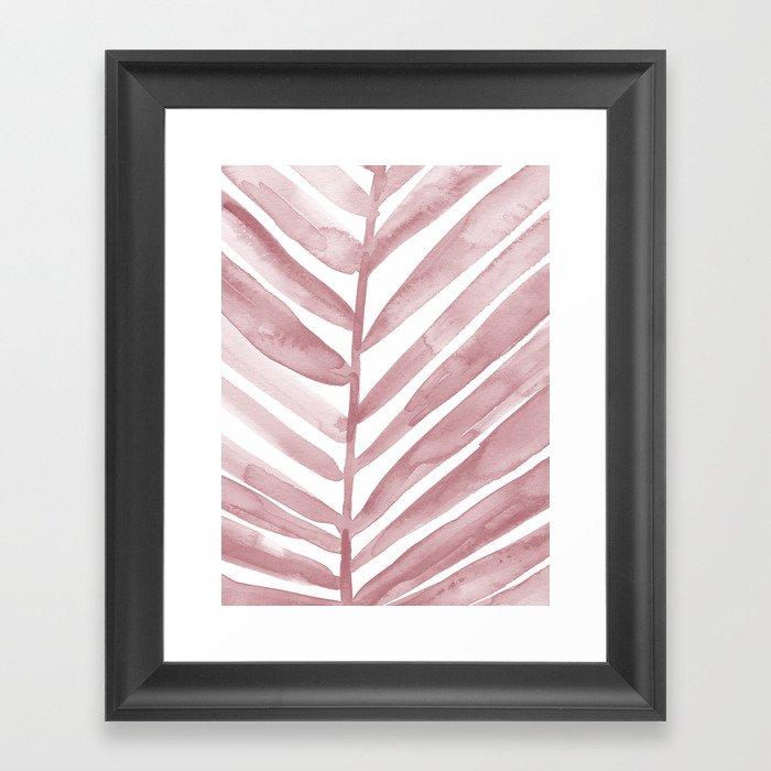Pink Palm Leaf Crop Gerahmter Kunstdruck