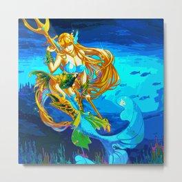 Atlantean Beauty 3 Metal Print