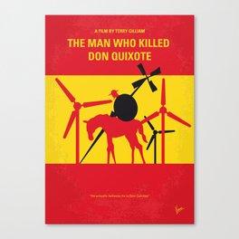 No1008 My The Man Who Killed Don Quixote minimal movie poster Canvas Print