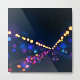 Synthwave Neon City #20 Metal Print