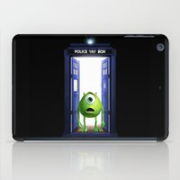 monster inc iPad Cases featuring Tardis Monster inc by DavinciArt