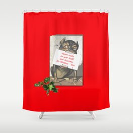 Best Christmas Wishes from the Beast Shower Curtain