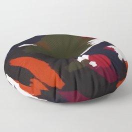 Winter Galaxy Abstract Artistic Brushstrokes Floor Pillow