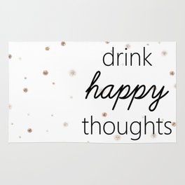 Drink Happy Thoughts Rug