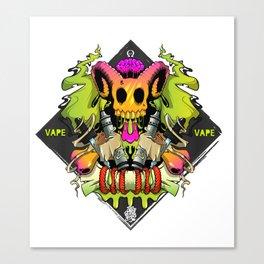 Vape Skull Canvas Print