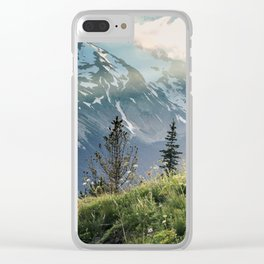 Mountain Sound Clear iPhone Case