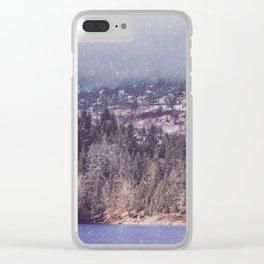 vintage landscape Clear iPhone Case