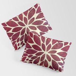 Petal Burst - Maroon Pillow Sham