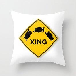 Sheep XING White Throw Pillow